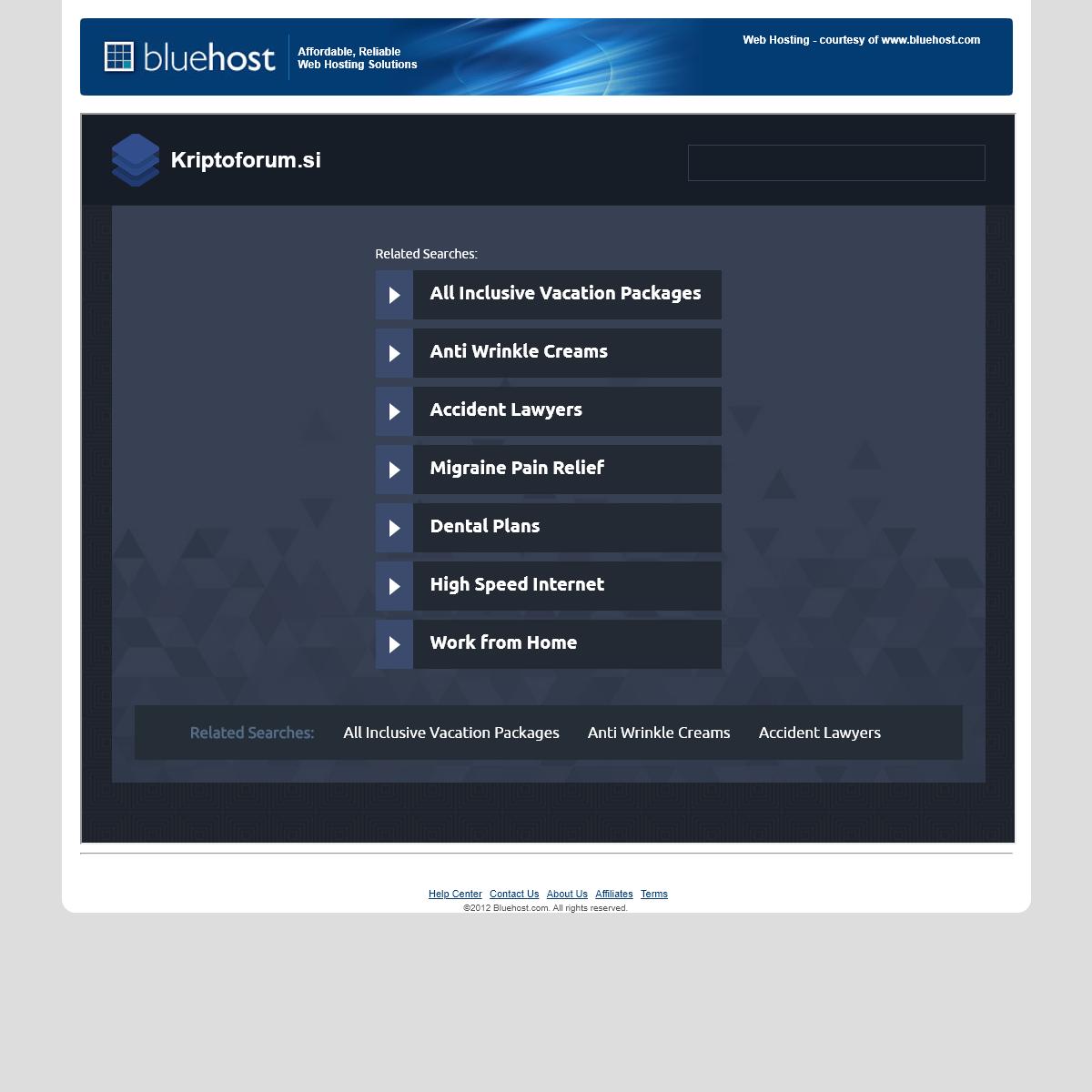 Welcome kriptoforum.si - BlueHost.com