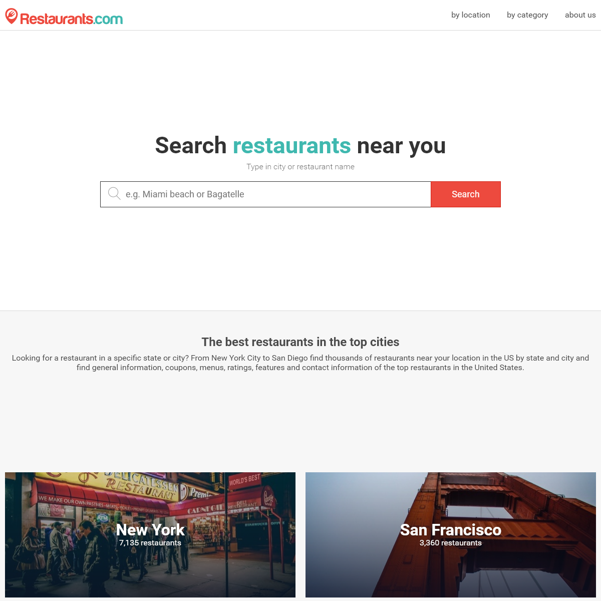 Restaurants.com- find & compare the best restaurants near you