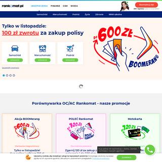Rankomat.pl- Porównywarka OC AC - Ubezpieczenie 55- taniej