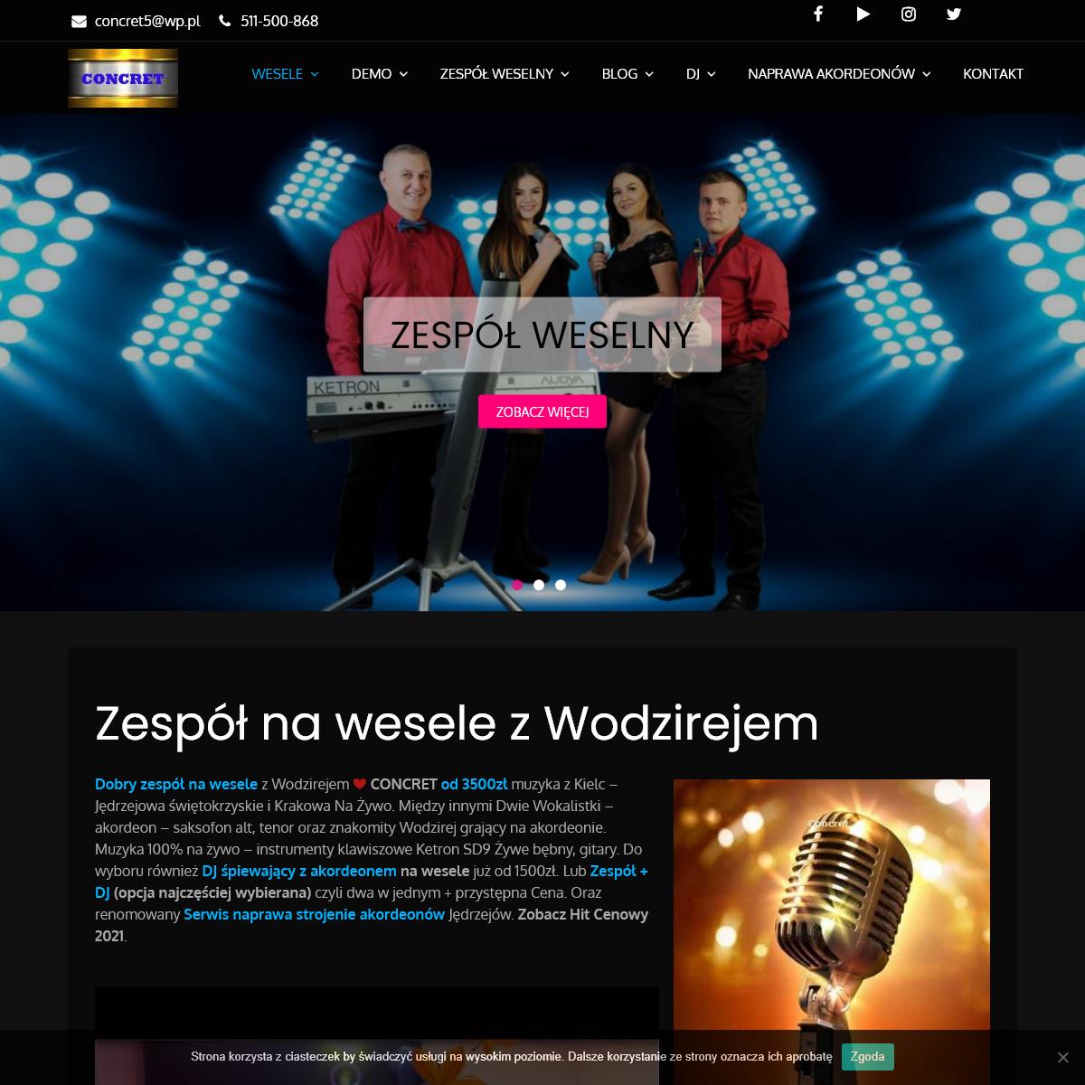Zespół na Wesele z Wodzirejem ❤️ Concret - Kielce-Kraków -Katowice