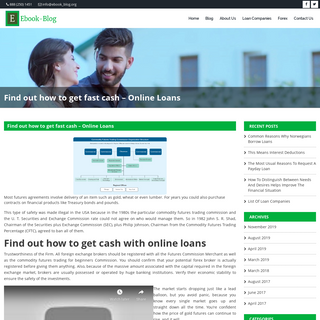 Find out how to get fast cash - Online Loans