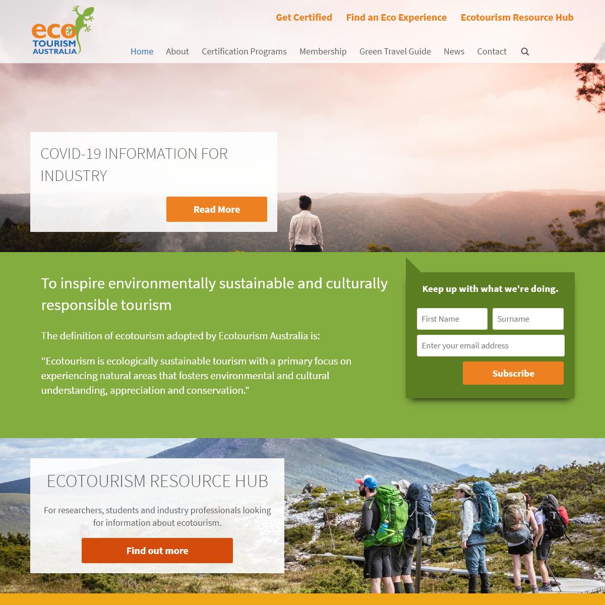 Home » Ecotourism Australia
