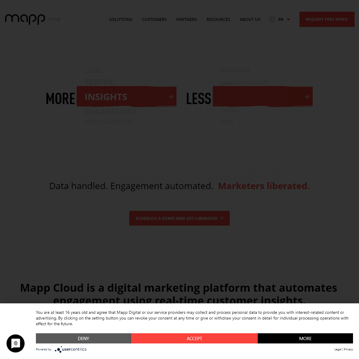 Mapp - A digital marketing platform that automates engagement using real-time customer insights.