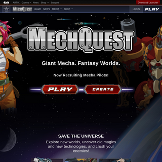 Mech Quest - Play space games online in our free sci-fi mecha RPG