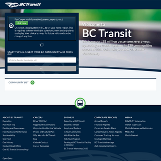 BC Transit - Choose Transit System