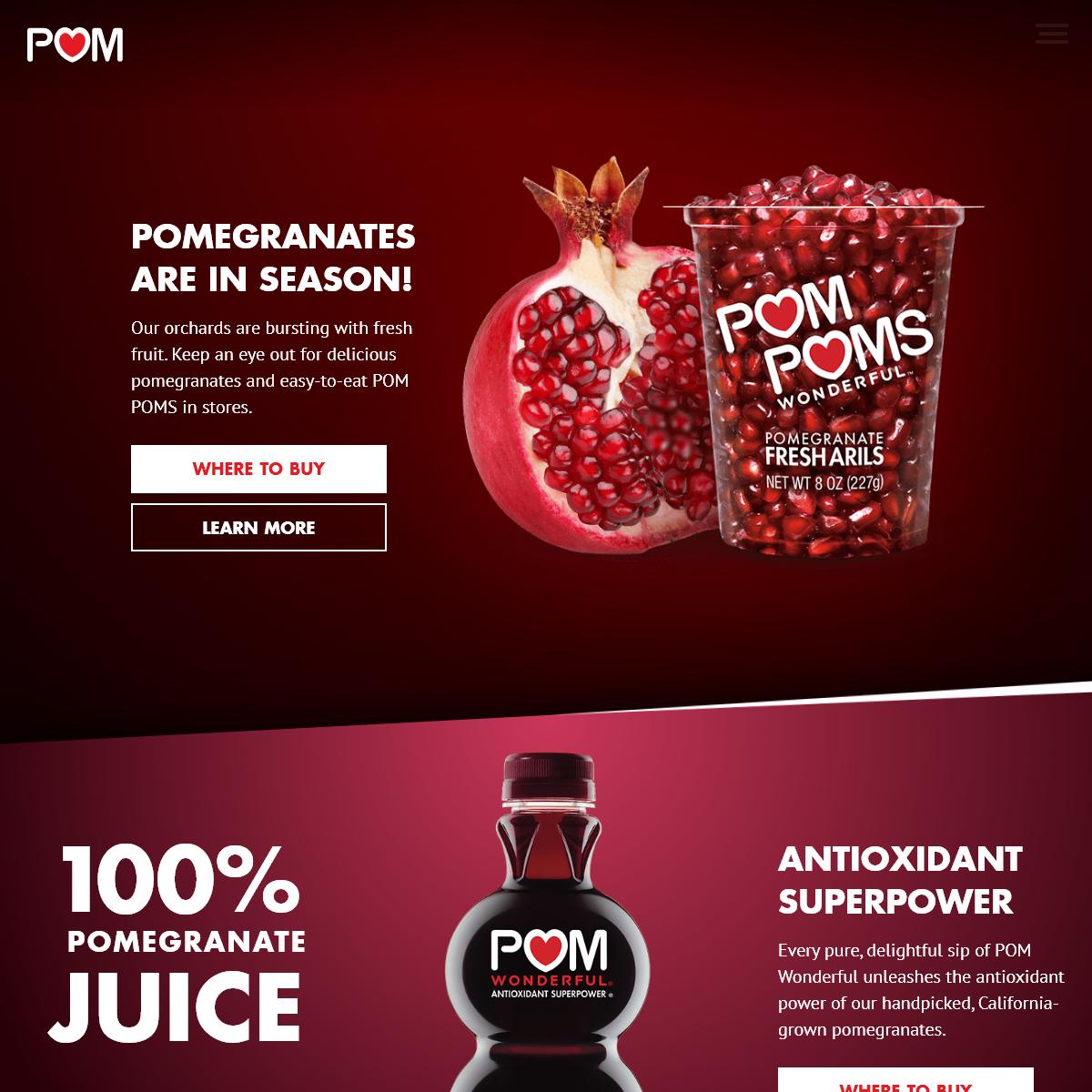 POM Wonderful – 100- Pomegranate Juice