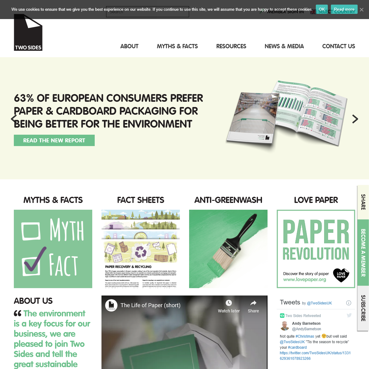 Two Sides - Start telling the sustainable story of print, paper and paper packaging