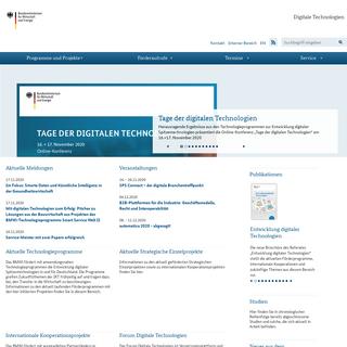Digitale Technologien - Startseite