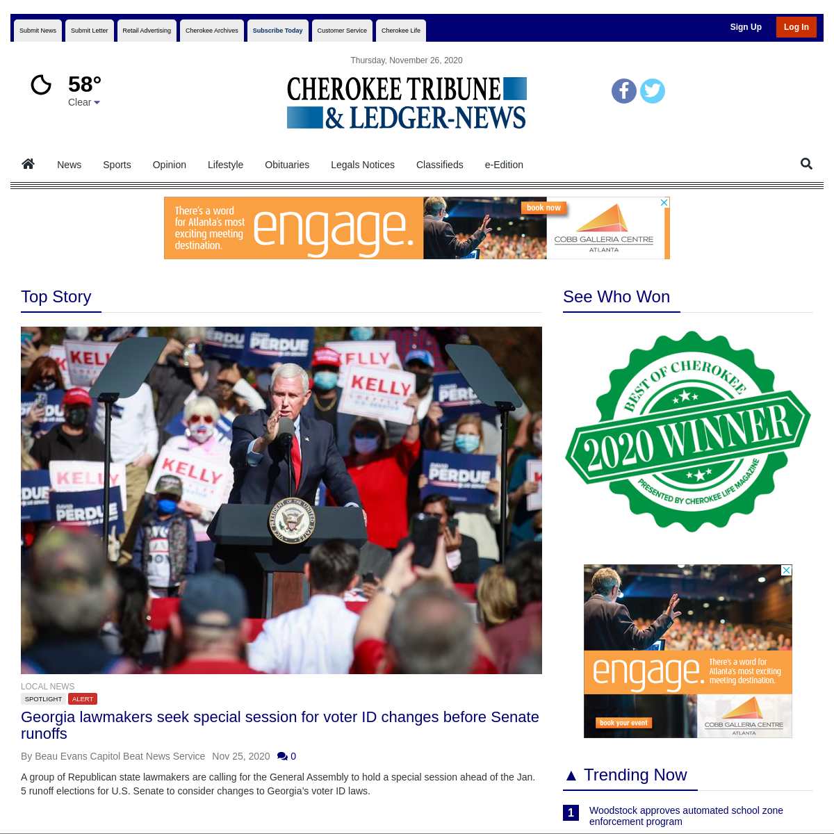Tribune Ledger News - Powered by the Cherokee Tribune and Ledger