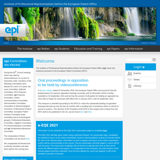 Institute of Professional Representatives before the European Patent Office - epi