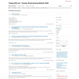 Todays1051.net - Popular Bookmarking Website 2020 - Your Source for Social News and Networking