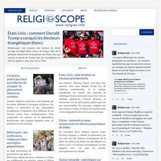 Religioscope – Informations et analyses sur les religions et les facteurs religieux dans le monde contemporain