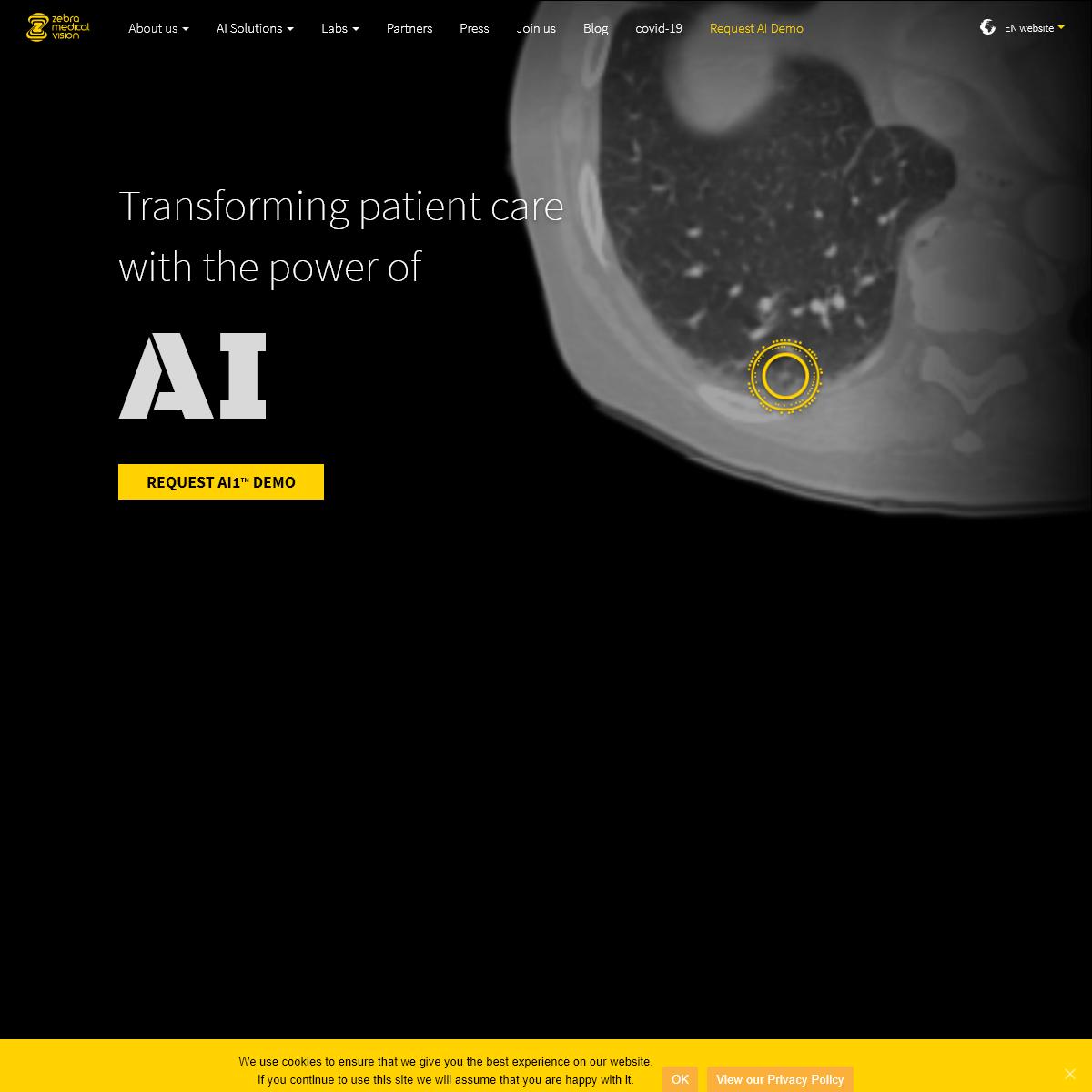 Zebra Medical Vision - Medical Imaging & AI