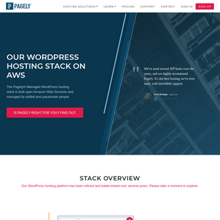WordPress Hosting Specs on AWS - Pagely