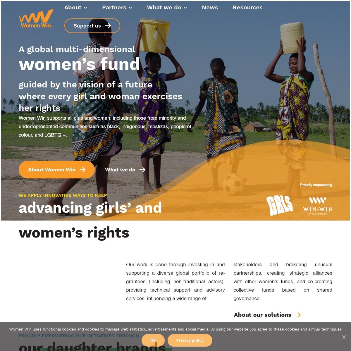 Women Win - Supporting girls and women around the world