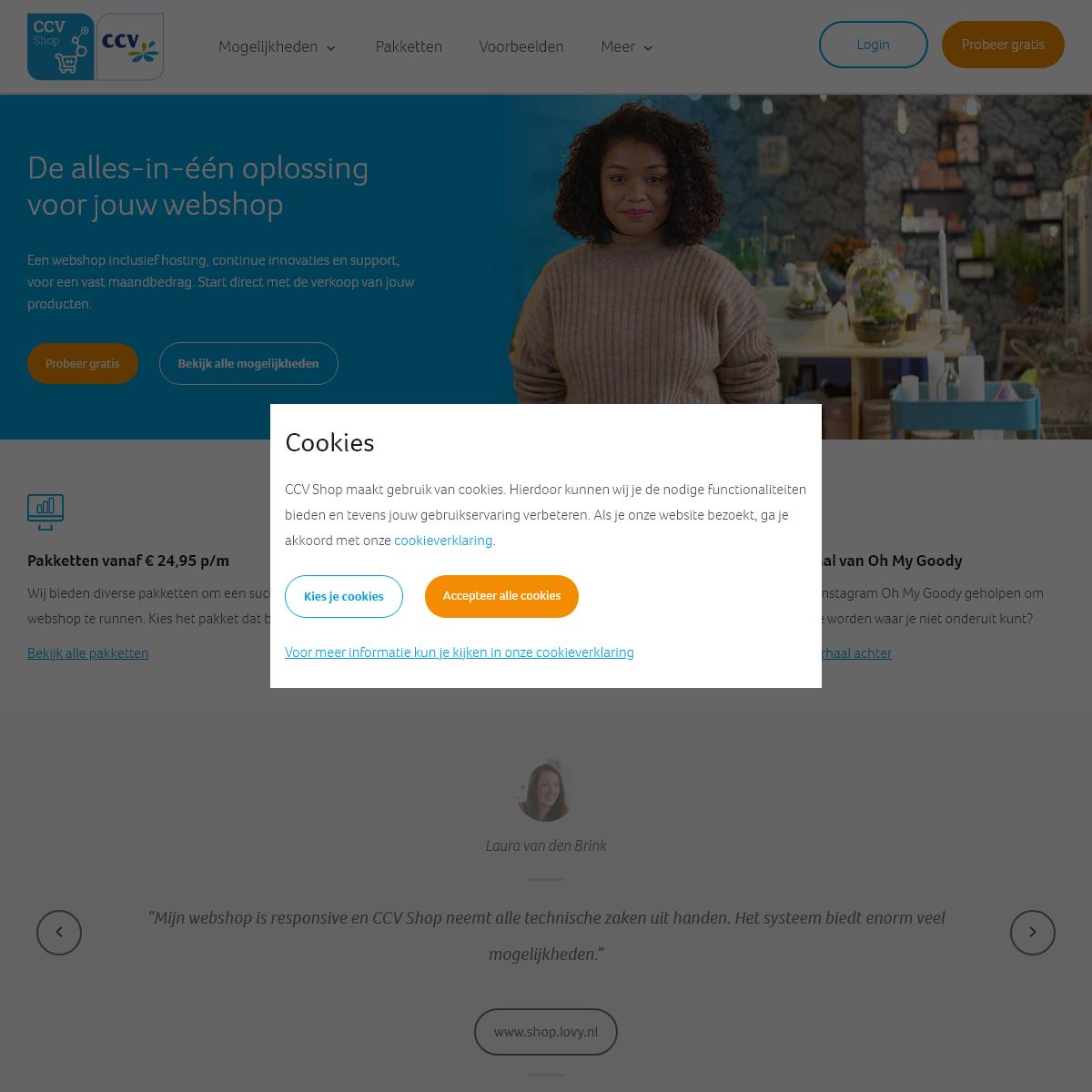 Webshop- Je webwinkel snel en eenvoudig online met CCV Shop