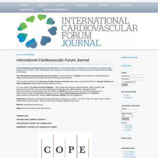 International Cardiovascular Forum Journal