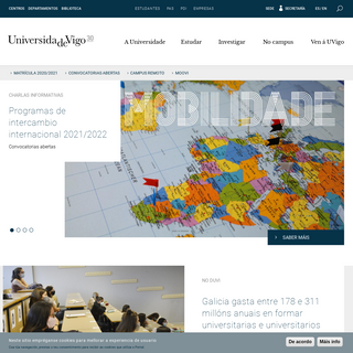 Inicio - Universidade de Vigo