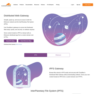 Distributed Web Gateway - Cloudflare