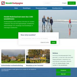 wandelen in Nederland - Wandelzoekpagina