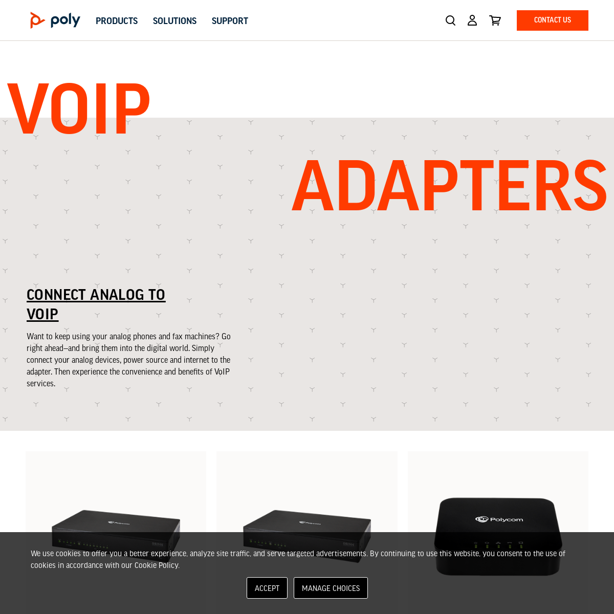 VoIP Adapters - Poly, formerly Plantronics & Polycom