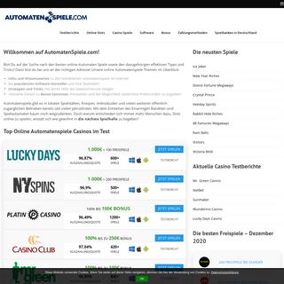 ▷ Automatenspiele 🥇 TOP! Automaten Spiele kostenlos【2020】