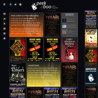 PEEK-A-BOO • Online alternative & underground music magazine