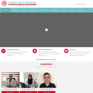 Samsun Terme M. Fahrettin Pekşen Aile Sağlığı Merkezi