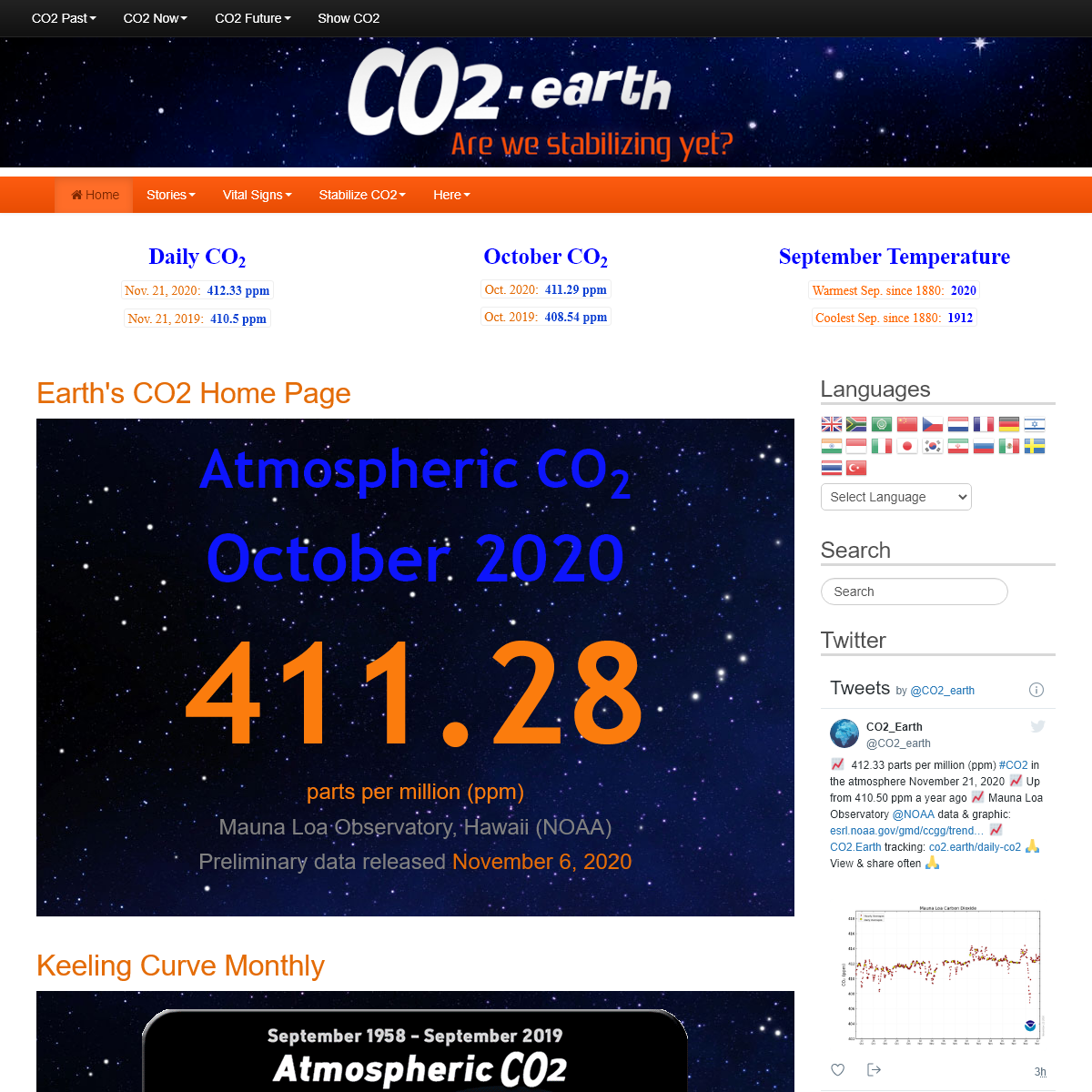 Earth`s CO2 Home Page