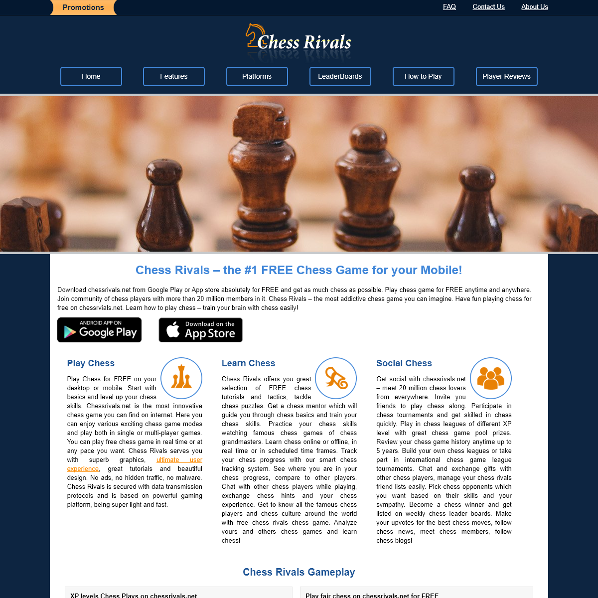 The #1 FREE Chess Game for your Mobile - ChessRivals.net