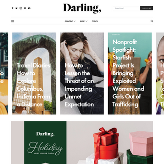 Darling Magazine - Darling, you are a work of art.
