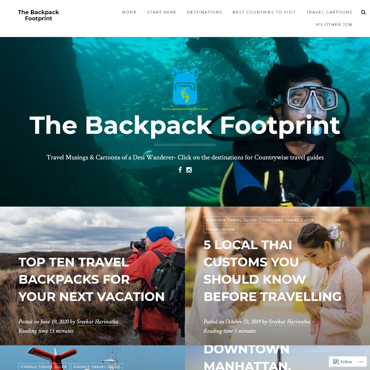 The Backpack Footprint
