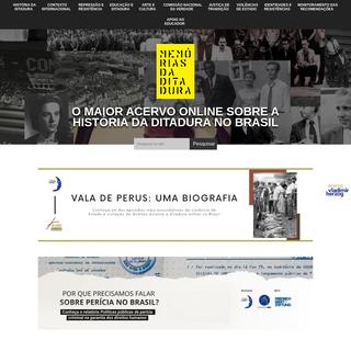 Memórias da ditadura - A maior referência na web sobre a ditadura militar no Brasil