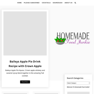 Homemade Food Junkie - Passionate about making healthier recipes from scratch, mostly organically!