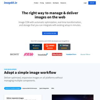 Global Image CDN with Real-time Image Optimization - ImageKit.io