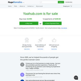 HugeDomains.com - Yaahub.com