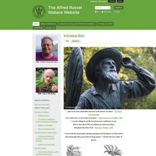 Introduction - The Alfred Russel Wallace Website