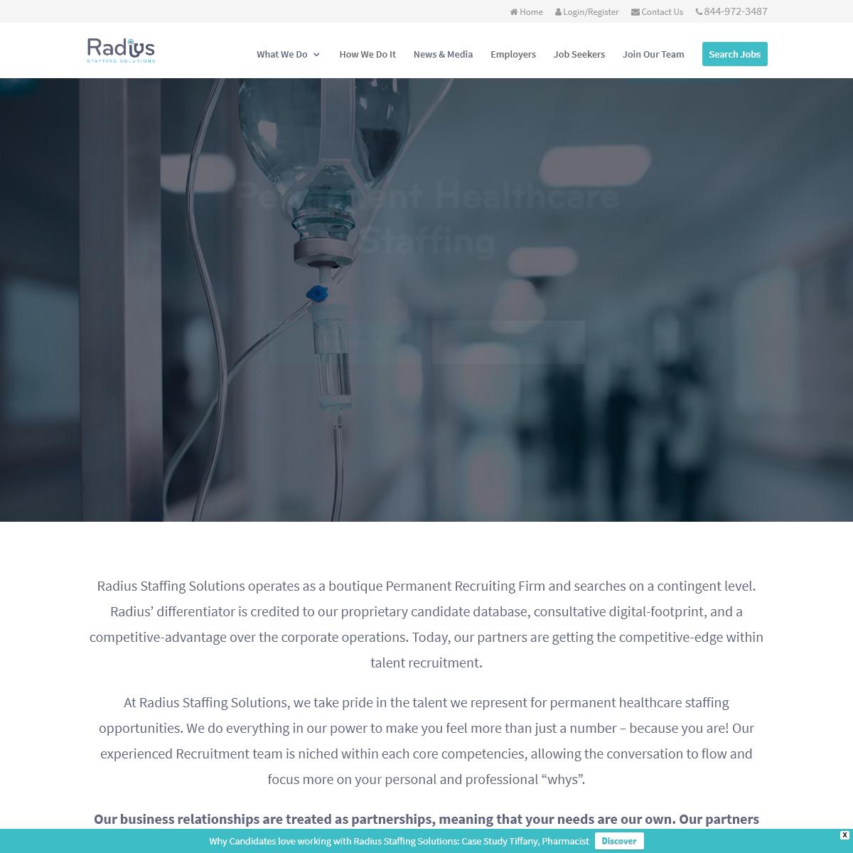 Radius Staffing Solutions - Permanent Healthcare Staffing