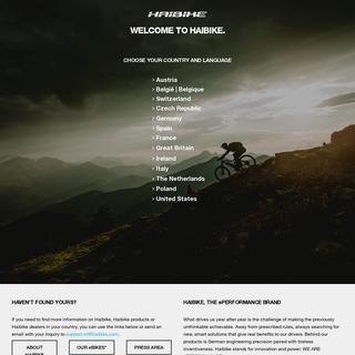 Haibike - Innovative Bikes, Ebikes, MTB - We are ePerformance
