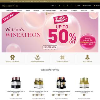 Watson`s Wine - Hong Kong`s Largest Online Wine Store