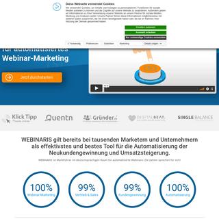 WEBINARIS® - DAS Webinar Tool für automatisiertes Webinar-Marketing