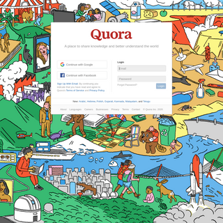 Quora - A place to share knowledge and better understand the world
