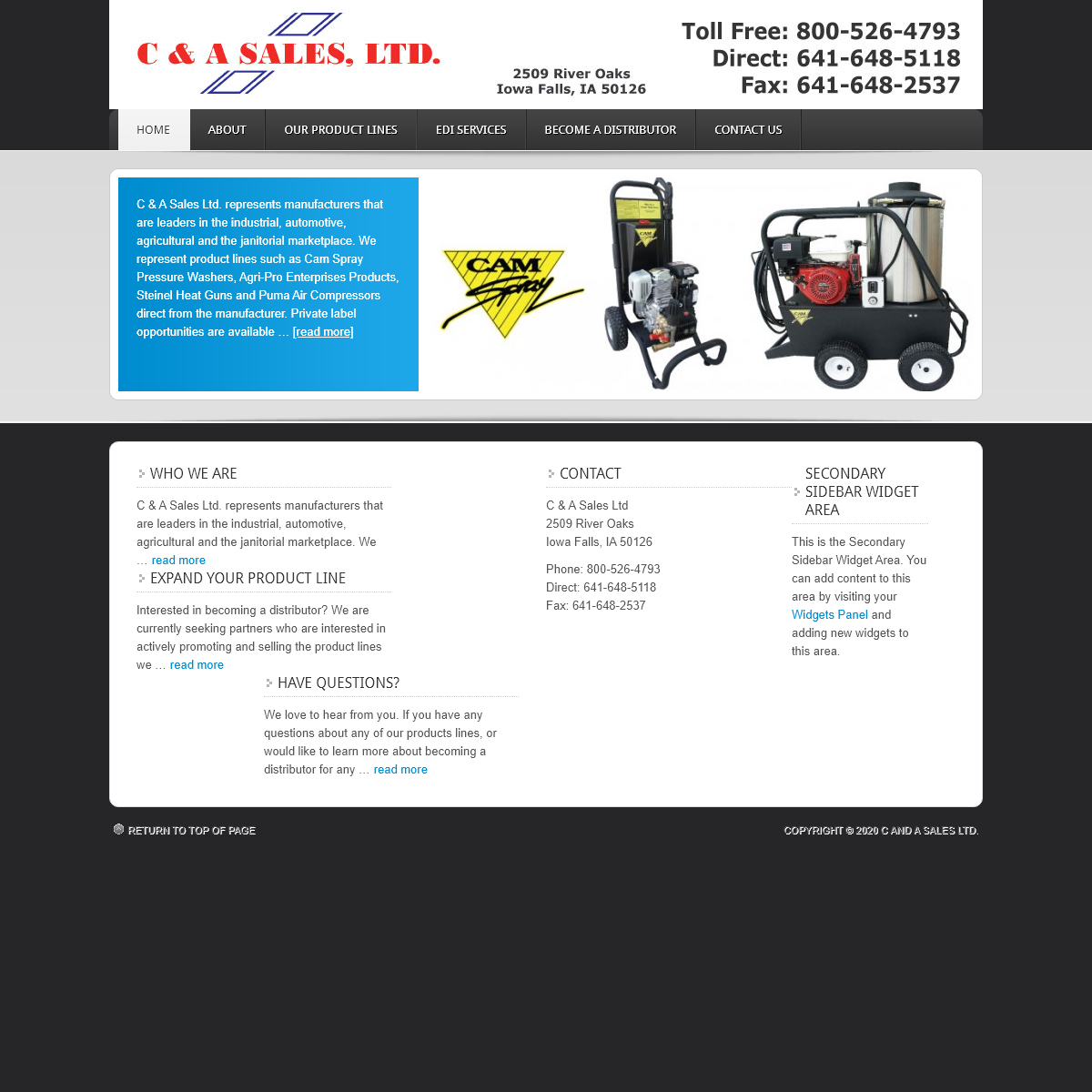 Manufacturers` Representatives of Industrial, Agricultural, Automotive, & Janitorial Products — We represent- Cam Spray, Agri-