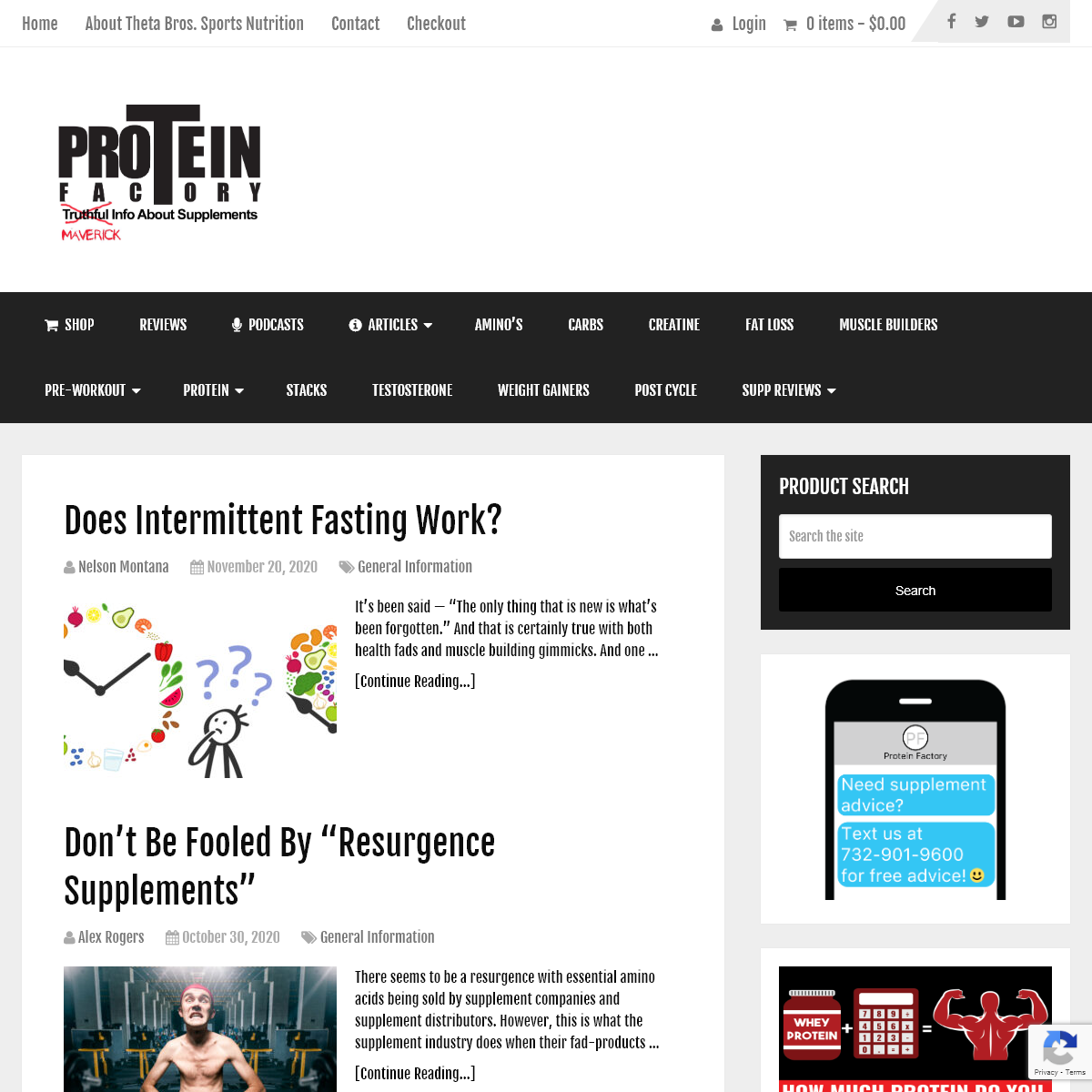 Proteinfactory - Unflavored Protein Powder - Factory Direct Pricing