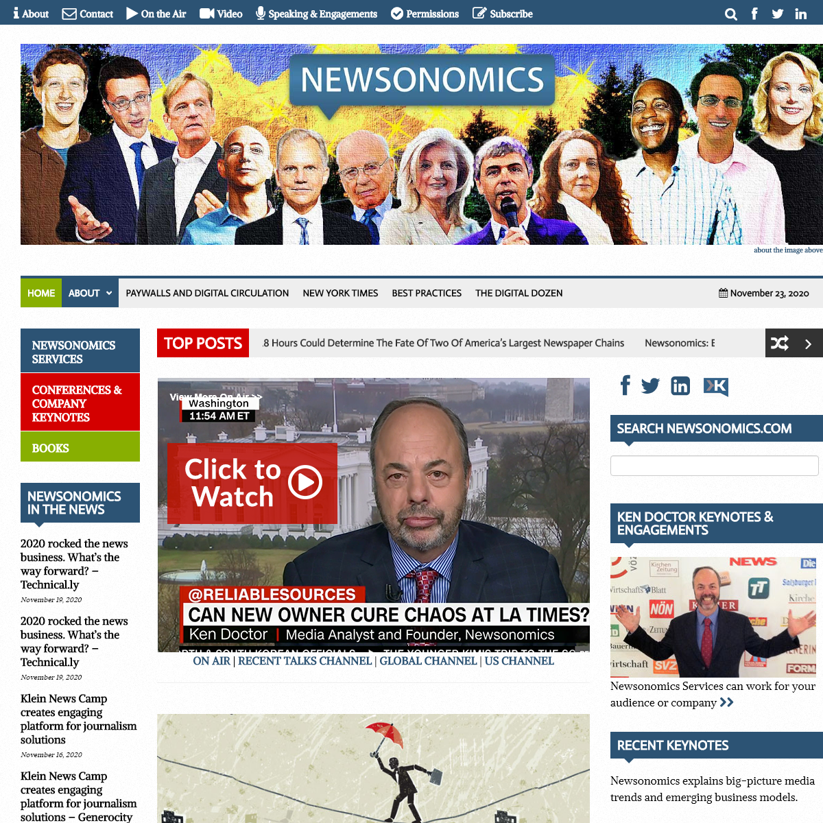 Newsonomics - On the transformation of the news business