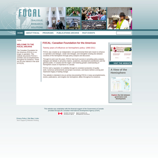 FOCAL- Canadian Foundation for the Americas