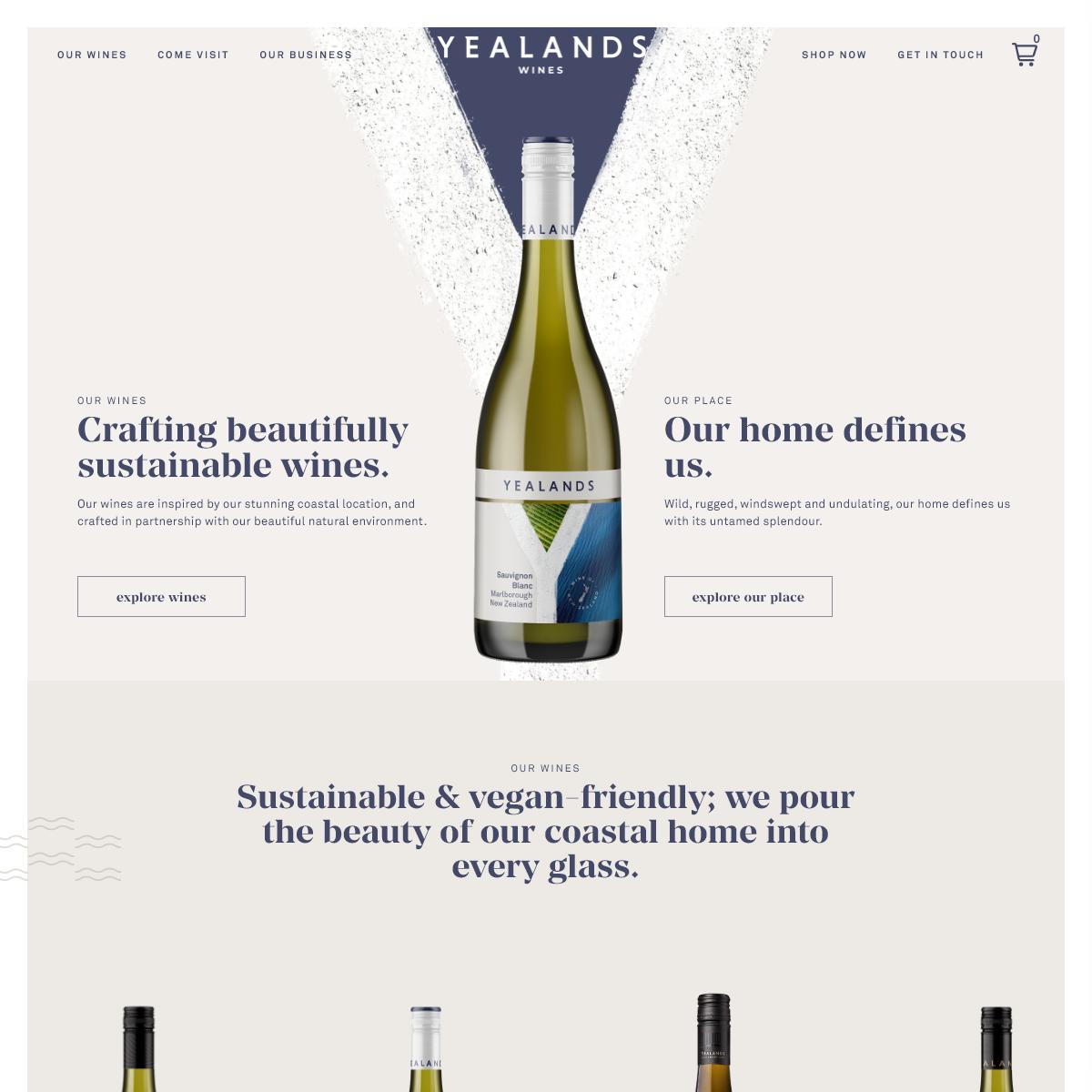 New Zealand Wine Online - Yealands Wine