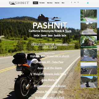Pashnit California Motorcycle Roads - Tours - Maps - Best Rides