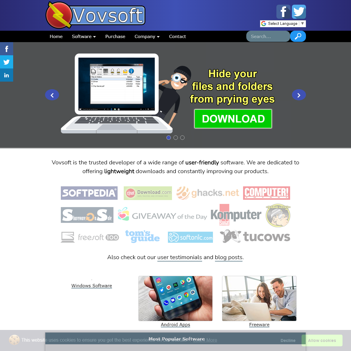 Vovsoft - Home of lightweight software downloads