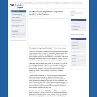 CNA Training Program — Certified Nursing Assistant Information
